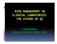 RISK MANAGEMENT IN CLINICAL LABRATORIES: THE FUTURE ...