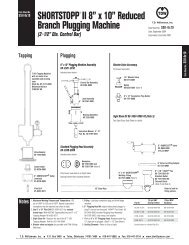 SHORTSTOPP® II 8X10 Inch Data Sheet - T.D. Williamson, Inc.