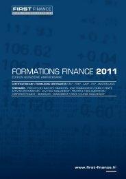 produits des marchés financiers - First Finance