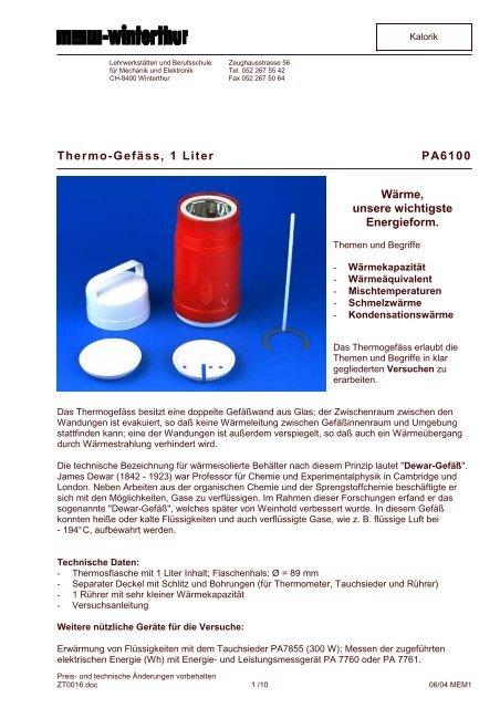 Thermo-Gefäss, 1 Liter PA6100 Wärme, unsere wichtigste ...