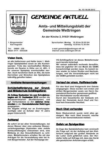 STEP-Aerobic ab Mittwoch, 19. September 2012 10 ... - Wettringen