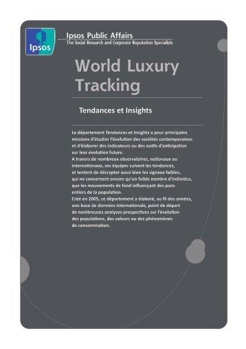 World Luxury Tracking - Ipsos