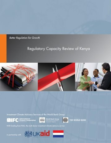 Regulatory Capacity Review of Kenya - Investment Climate