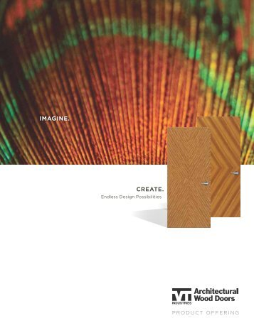 Architectural Wood Doors Product Offering Brochure - VT Industries Inc