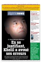 Fr-21-08-2013 - Algérie news quotidien national d'information