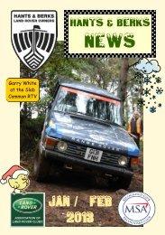 Jan / Feb 2013 - Hants & Berks Rover Owners