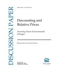 Discounting and Relative Prices - Resources for the Future