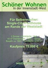 Single-City-Penthouse am - weststadtmakler.de