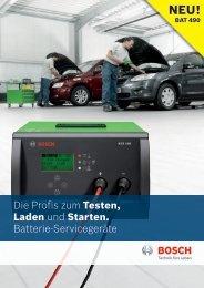 Die Profis zum Testen, Laden und Starten. Batterie ... - Bosch