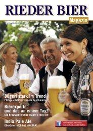 Kundenmagazin Rieder Bier