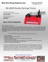 NE-4000 Double Syringe Pump - - NDN