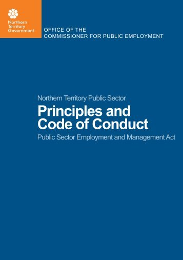 Principles and Code of Conduct - Office of the Commissioner for ...
