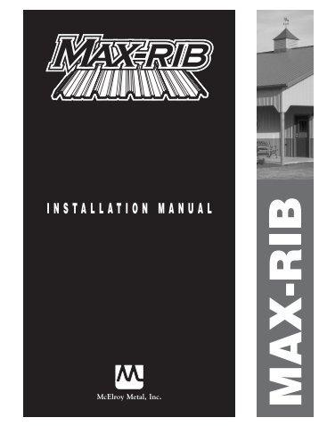 MAX-RIB - McElroy Metal
