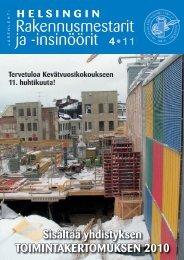Yhdistyksen jäsenlehti 4/11, PDF tiedosto - Helsingin ...