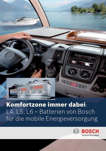 Komfortzone immer dabei: L4, L5,  L6 – Batterien von Bosch für die ...