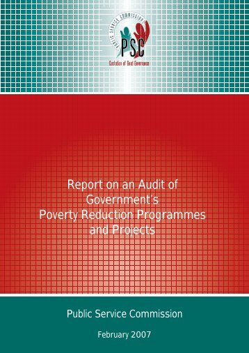 Report on an Audit of Government's Poverty Reduction Programmes ...