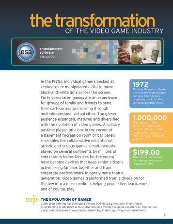 the transformation - Entertainment Software Association