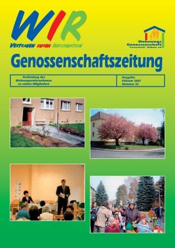 """Mitgliederinformation - Wohnungsgenossenschaft """"Fortschritt"""" Döbeln"""