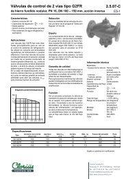 Válvulas de control de 2 vías tipo G2FR, de hierro ... - Clorius Controls