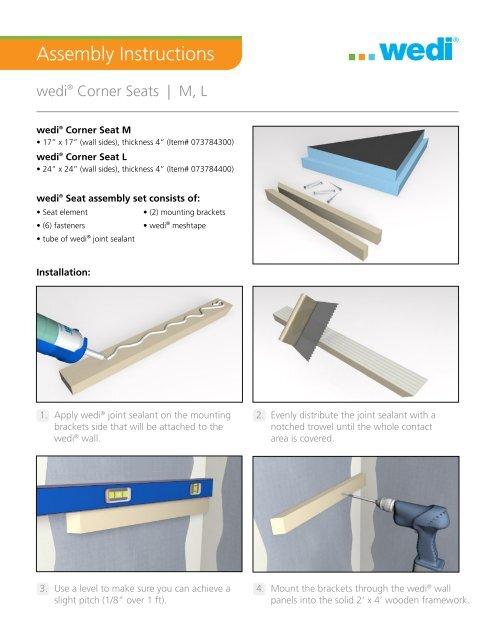 Remarkable Wedi Suspended Bench Installation Sierra Glass Block Alphanode Cool Chair Designs And Ideas Alphanodeonline