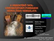 A visszatérő Tata – városközponti források hidrológiai vizsgálata