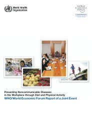 Preventing noncommunicable diseases in the workplace through diet