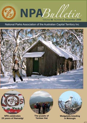 Vol 46 No 4 Dec 2009 - National Parks Association of the ACT