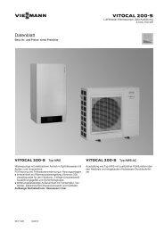 Datenblatt Vitocal 200-S - Welt des Wohnens