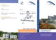 TEL. 0 36 43 / 57 14 97 www.klinikum-weimar.de - Das Sophien