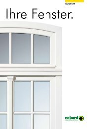 Kunststoff-Fenster - Welt des Wohnens