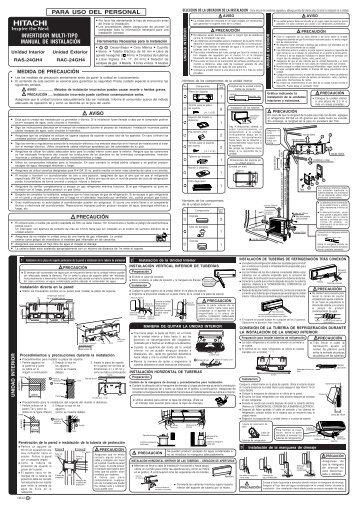 para uso del personal invertidor multi-tipo manual de instalación