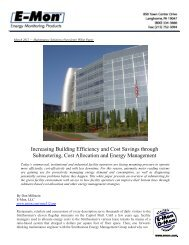 Increasing Building Efficiency and Cost Savings through ... - E-Mon