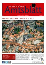 Amtsblatt Stadt Wernigerode  08 - 2012