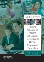 2008 ICT Literacy school release materials - NAP