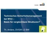 TSM bei WVU - Basis für vergleichbare Strukturen? - DVGW Baden ...