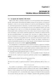 Capitolo I RICHIAMI DI TEORIA DELLA PROBABILITÀ