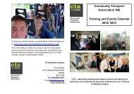 Training and Events Calendar 2012/ 2013 - Community Transport ...