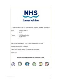 Lung Oncology Stakeholder Report - NHS Lanarkshire