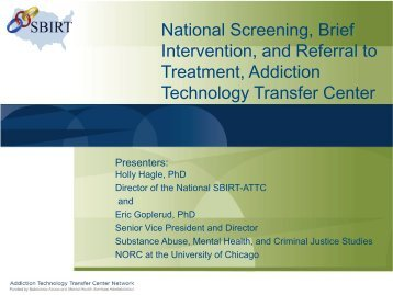 presentation slides - the ATTC Network