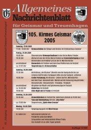Nachrichtenblatt September 2005 - Werbegemeinschaft Geismar ...