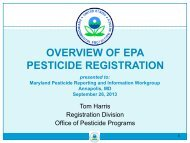 EPA Pesticide Regulation - Maryland Department of Agriculture