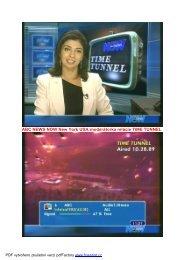 ABC NEWS NOW New York USA:moderátorka relácie TIME TUNNEL