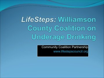 LifeSteps: Williamson County Coalition on Underage Drinking
