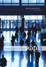 Investment in Kosovo 2009 (4th Edition) - Bogalaw.com