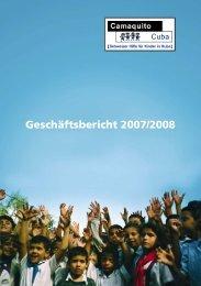 Geschäftsbericht 2007/2008 - Camaquito