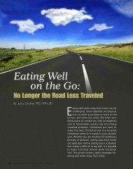 Eating Well On The Go: No Longer The Road Less ... - Igliving.com