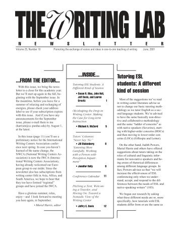 25.10 - The Writing Lab Newsletter
