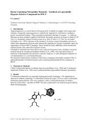 Synthesis of a potentially Hypoxia Selective Compound for BNCT