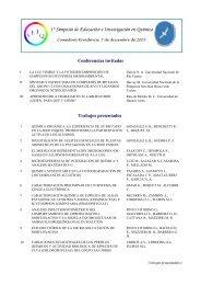 Resumen Simposio de Educación e Investigación en Química