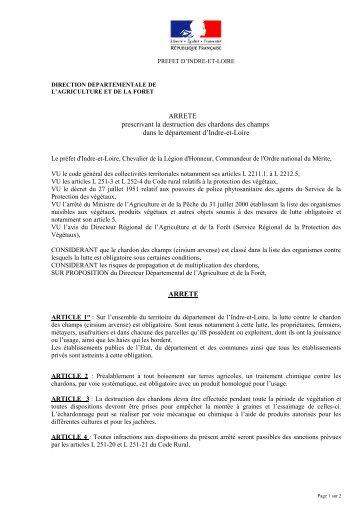 Arrêté chardons - Préfecture